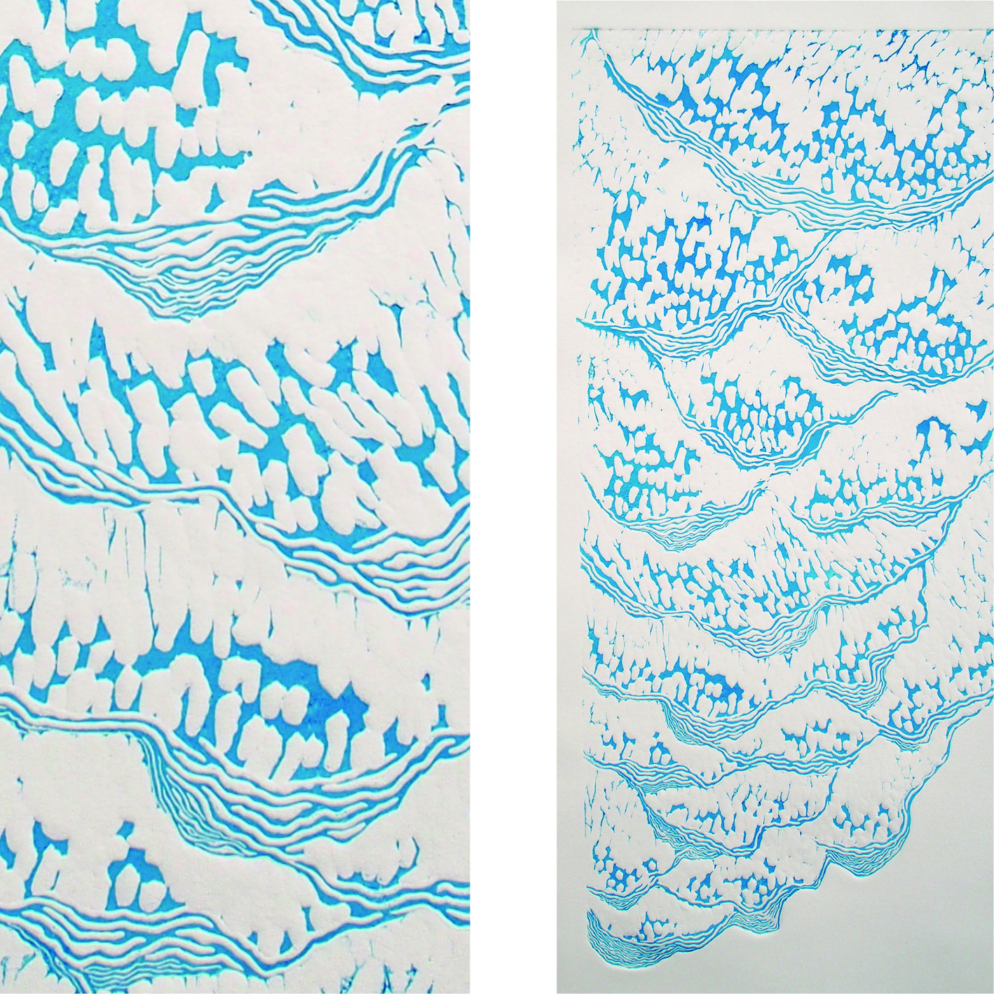 gros plan d'un mobile feuillage en dentelle de papier